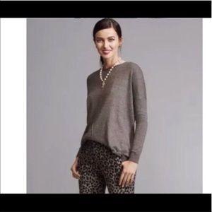 cabi oversized grey sweater size xs fall 2017